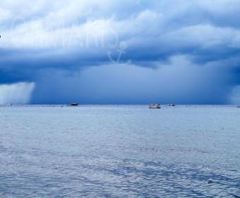 Schlechtwetterfront zieht auf. Foto: cku