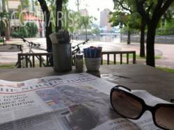 Am Morgen erst einmal Zeitung lesen. Foto: cku
